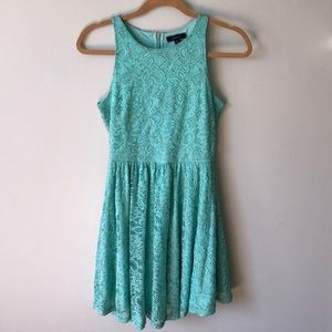 Soprano teal blue lace dress